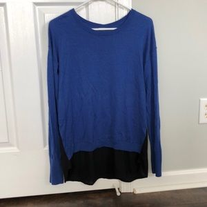 Blue and black top